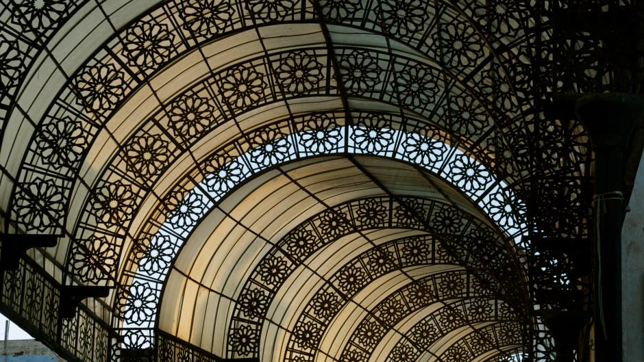 Ironwork archway in Rabat, Morocco